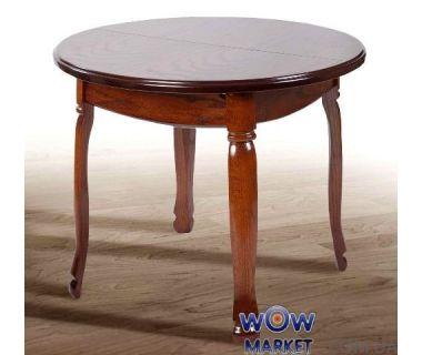 Стол раскладной Гаити круглый 1000(+300)*1000мм орех Микс Мебель