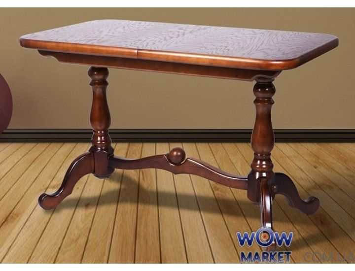 Стол раскладной Дуэт 1100(+300)*650мм (орех) Микс-Мебель Авангард