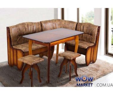 Комплект Канзас (уголок+стол+2 табурета) Микс Мебель