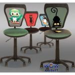 Детское кресло Ministyle (Министайл) ткань HAPPY ANIMALS Новый стиль