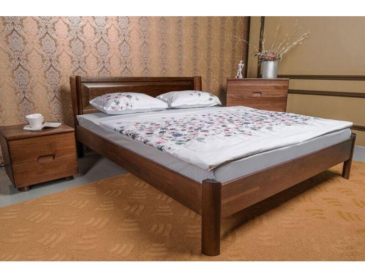 Кровать деревянная односпальная Олимп Марго филенка без изножья