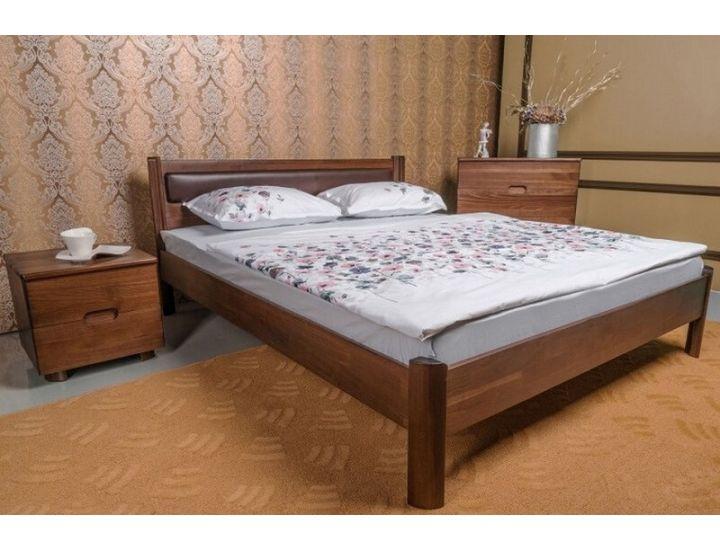 Кровать деревянная односпальная Олимп мягкая Марго без изножья