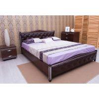 Кровать Олимп Прованс патина и фрезеровка мягкая спинка ромбы