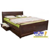 Кровать двуспальная 200х200 см Олимп Сити с филенкой и ящиками