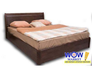 Кровать двуспальная 180х200 (190) см Олимп Сити с филенкой с подъемным механизмом