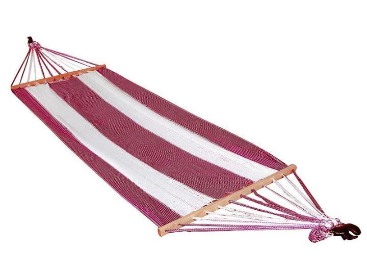 Гамак подвесной А1013 бело-бордовый