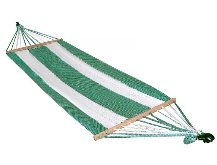 Гамак подвесной А1013 бело-зеленый