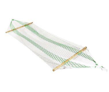 Гамак подвесной А1001 бело-зеленый