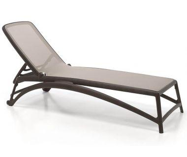 Лежак шезлонг пляжный Atlantico коричневый, бежевый текстилен