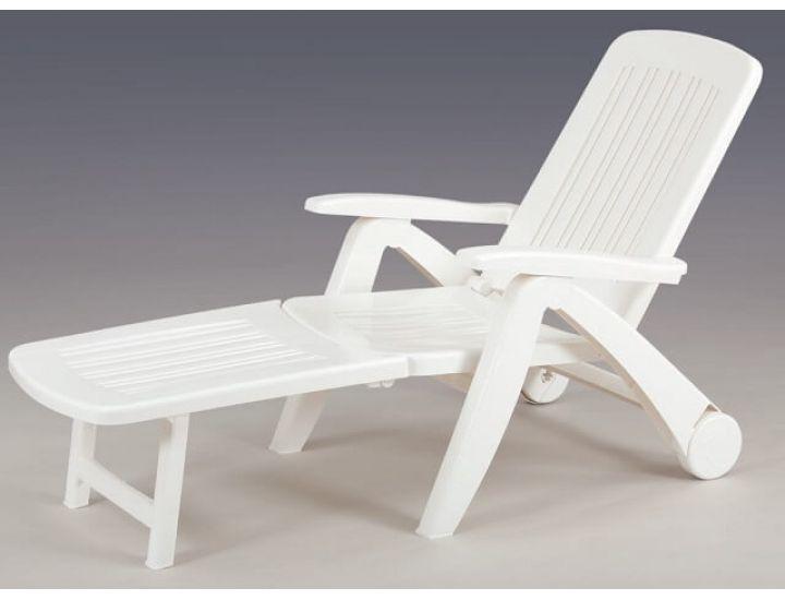 Лежак шезлонг пляжный Cancun белый