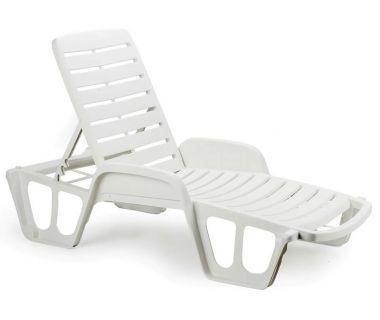 Лежак шезлонг пляжный Fisso белый