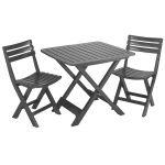 Набор мебели Camping антрацит 4 стула