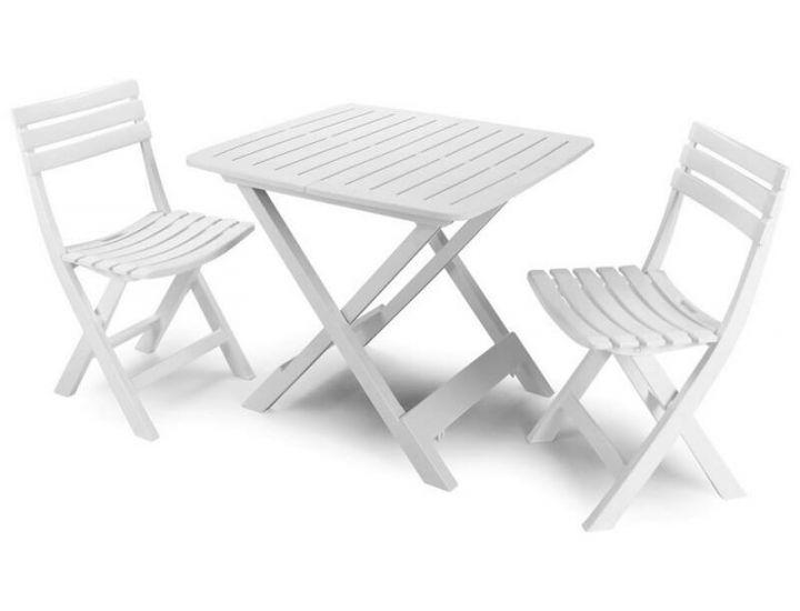 Набор садовой мебели Camping белый 4 стула