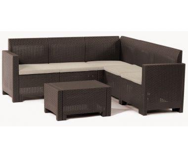 Набор мебели Nebraska Corner коричневый