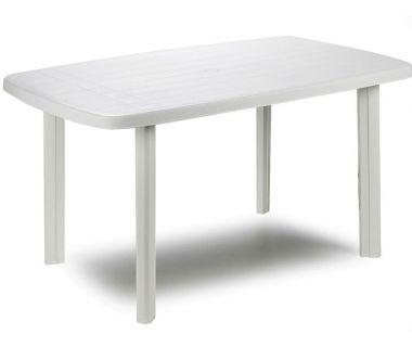 Стол пластиковый Faro 137x85x72 см овальный белый
