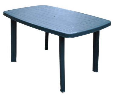 Стол пластиковый Faro 137x85x72 см овальный зеленый