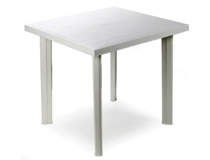 Стол пластиковый Fiocco 75x80 см белый