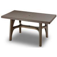 Стол пластиковый Intrecciato 140x80 см бронза