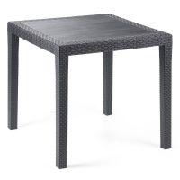 Стол пластиковый King 79x79 см антрацит