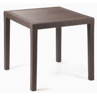 Стол пластиковый King 79x79 см коричневый