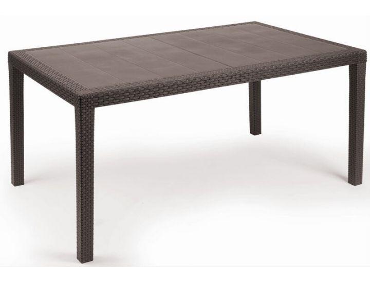 Стол пластиковый Prince 150x90 см коричневый