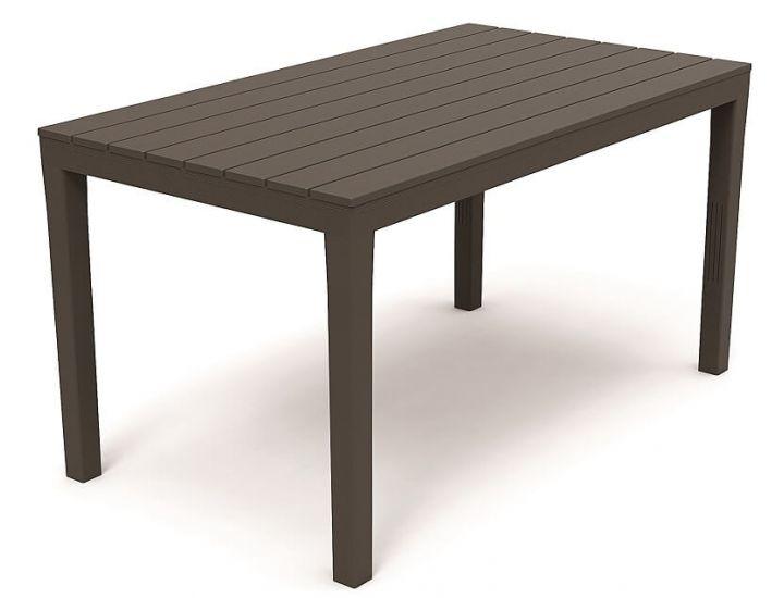 Стол пластиковый Sumatra 138x80 см антрацит