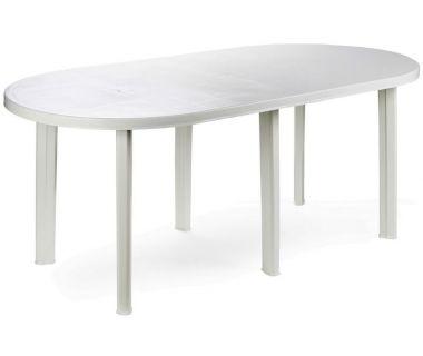 Стол пластиковый Tavolo 180x90 см овальный белый
