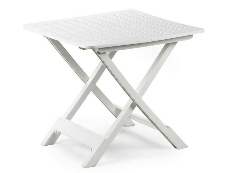 Стол пластиковый Tevere раскладной белый