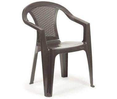 Кресло пластиковое Atlanta коричневое