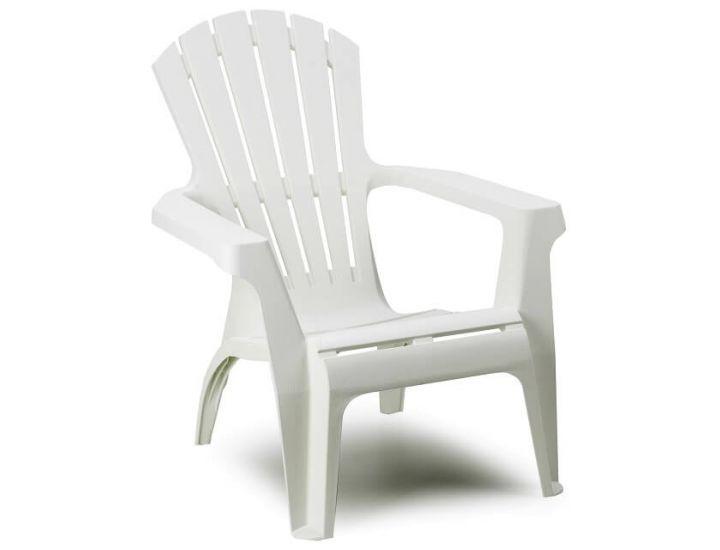 Кресло пластиковое Dolomiti белое