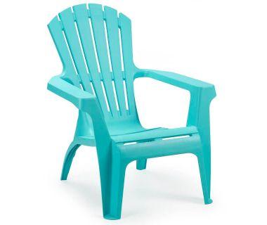 Кресло пластиковое Dolomiti голубое