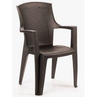 Кресло пластиковое Eden коричневый