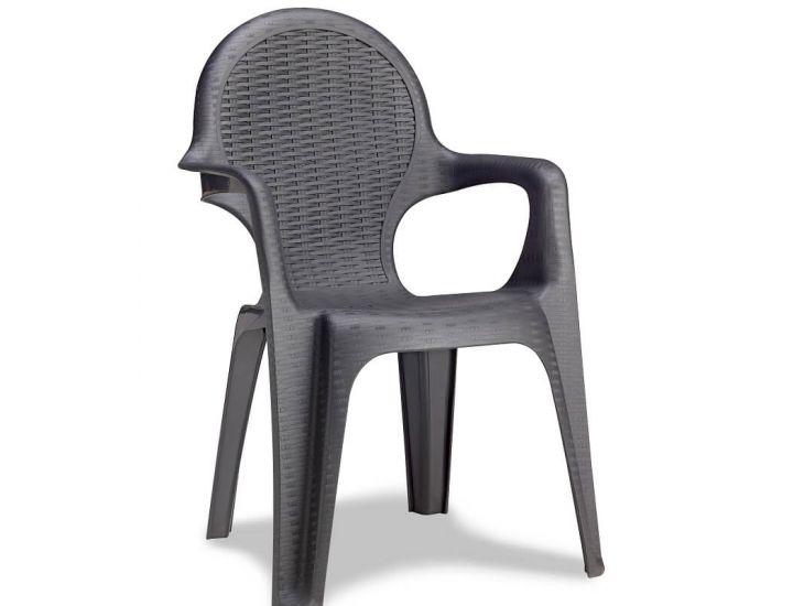 Кресло пластиковое Intrecciata антрацит