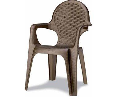 Кресло пластиковое Intrecciata бронза