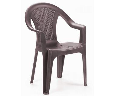 Кресло пластиковое Ischia коричневое