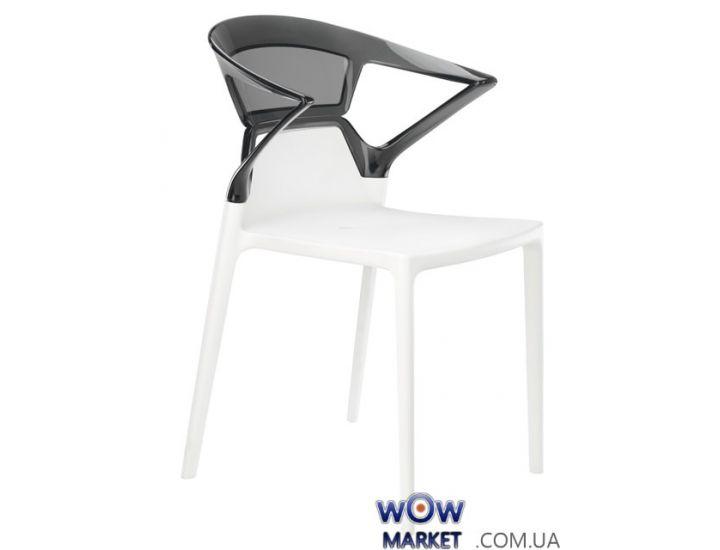 Кресло Ego-K 2484 белое сидение 01 верх прозрачно-дымчатый 38 Papatya (Турция)