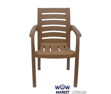 Кресло пластиковое Жимолось СТ012 бежевое 1526