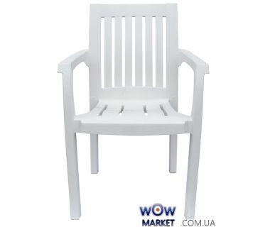 Кресло пластиковое Базилик белое 1545