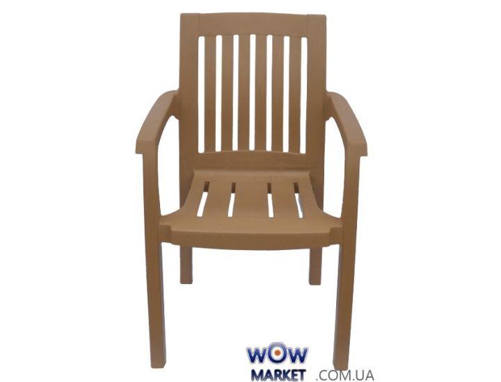 Кресло пластиковое Базилик СТ013 бежевое 1546