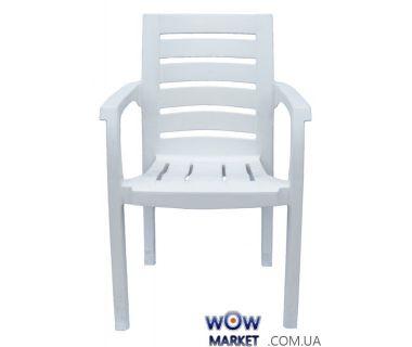 Кресло пластиковое Жимолось СТ012 белое 1547