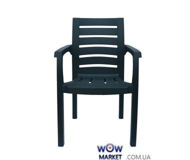 Кресло пластиковое Жимолось СТ012 зеленое 1548