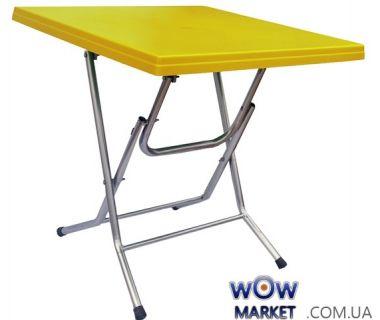 Стол раскладной Ладан с металлическими ножками 75*75 СТ056 желтый 1536