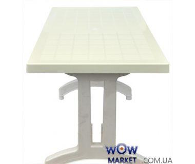 Стол Кокнар с пластиковыми ножками 70*120 СТ051 белый 1573