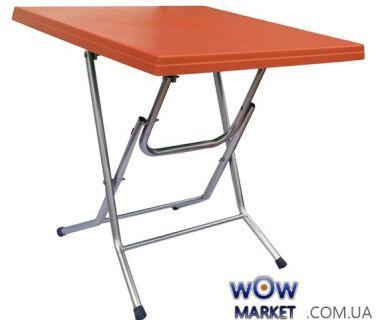 Стол раскладной Ладан с металлическими ножками 75*75 СТ056 оранжевый 1575