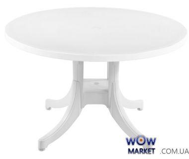 Стол круглый Фавори, диаметр 120см 4524 белый 01 PAPATYA (Турция)