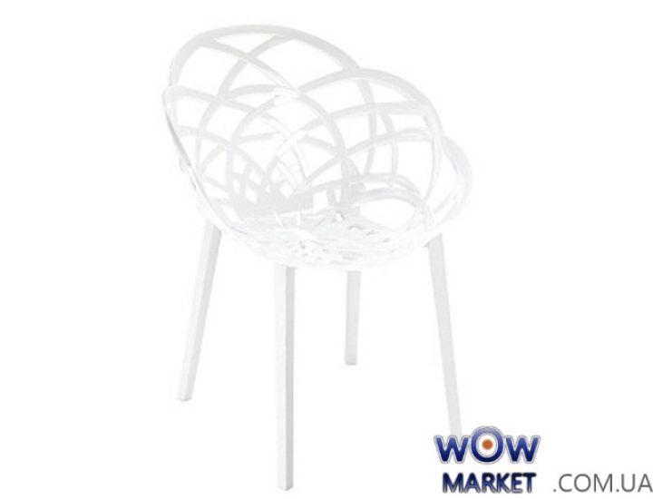 Кресло Flora 2309 Белый низ pp base 01 белое сидение 43 Papatya (Турция)