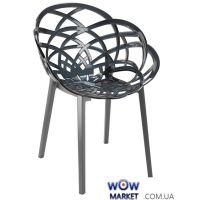 Кресло Flora антрацит низ pp base 22 прозрачно-дымчатое сидение 38 2310 Papatya (Турция)