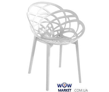 Кресло Flora 2311 матовое белое 01 Papatya (Турция)