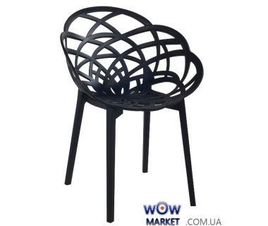 Кресло Flora 2314 матовое черное сидение 09с, ножки 09с матові чорні Papatya (Турция)