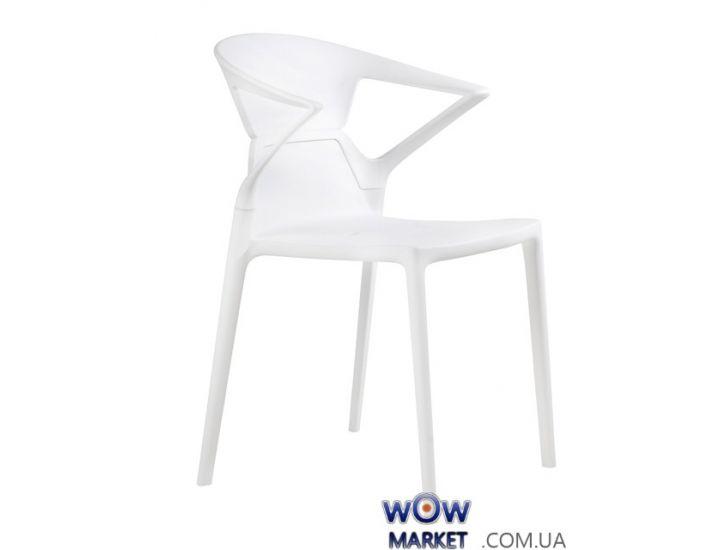 Кресло Ego-K 2357 белое сидение 01 верх прозрачно-чистый 37 Papatya (Турция)